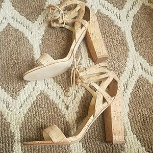 7ce409401f1b Marc Fisher Shoes - NWOB Marc Fisher Cork Lace Up Heels DSW